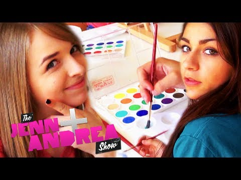 Jennxpenn and Andrea Russett PAINT EACH OTHER + GIVEAWAY