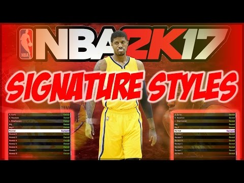 NBA 2K17 -The BEST Jumpshot & Signature Styles EVER! VERY CHEESY !! + Tips