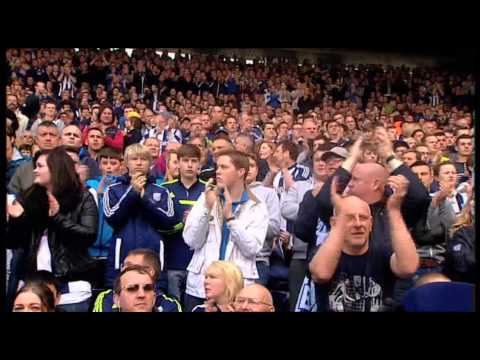 FAN CAM: West Bromwich Albion supporters celebrate Saido Berahino's goal against West Ham