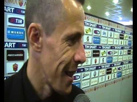 Rodrigo Taddei nel postgara Roma-Parma:
