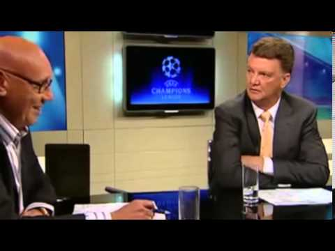 Louis van Gaal loses his temper on TV sports show