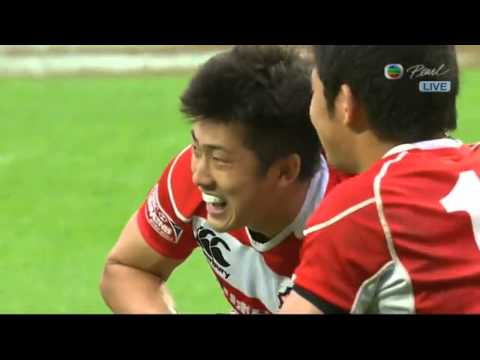 Japan Rugby Player Shows How Not To Do A Swan Dive
