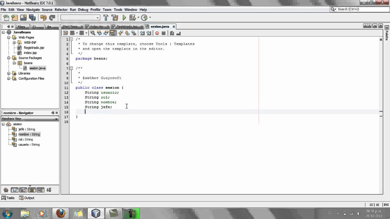 Uso de Java Beans + JSP + NetBeans - YouTube