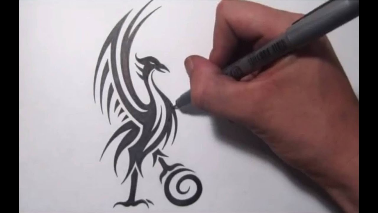redesigning the liverpool fc liver bird cool tribal design youtube. Black Bedroom Furniture Sets. Home Design Ideas