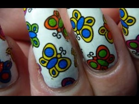 Cute Butterfly Flower Nail Foil Art Design Tutorial How To Step By