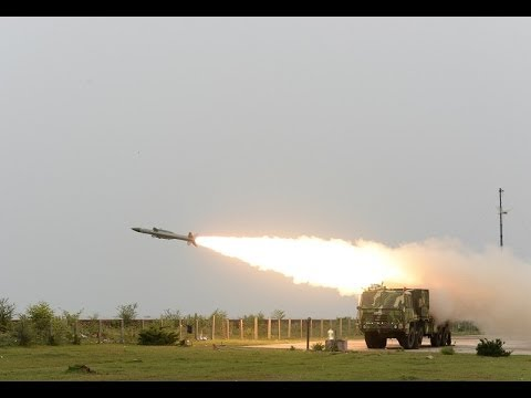 Akash missile low altitude test by Indian Army 2014