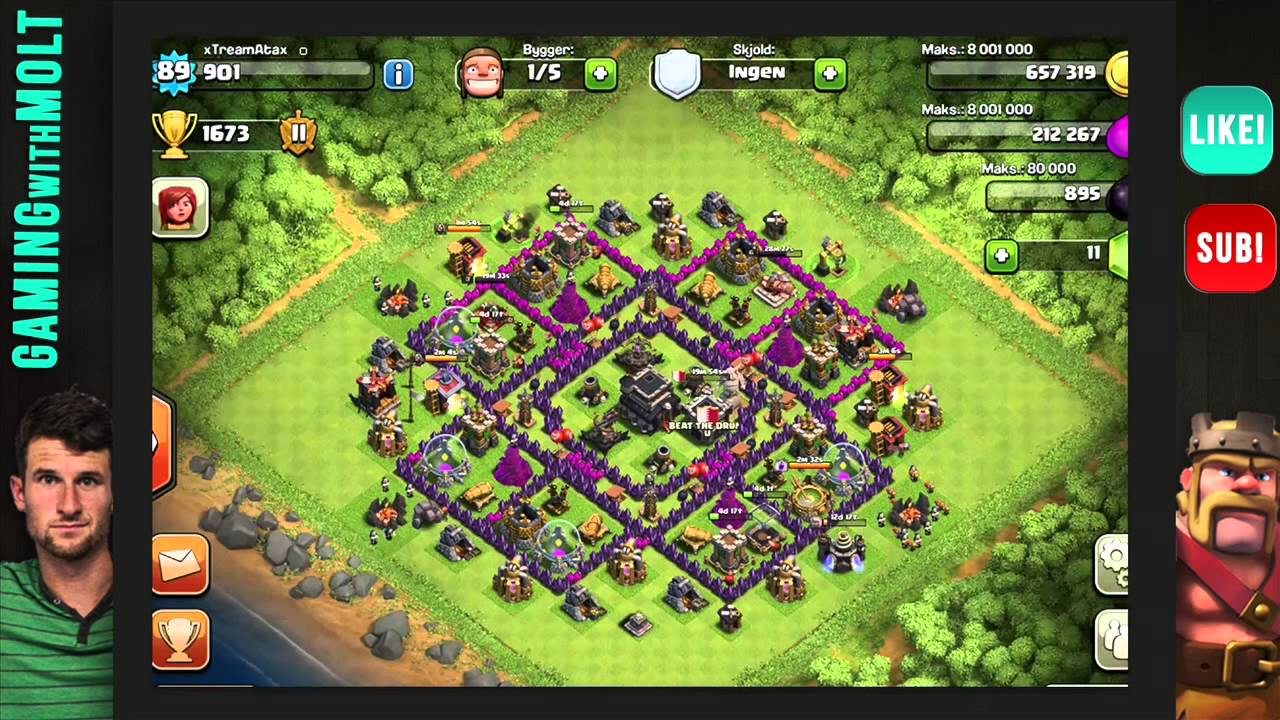 Hybrid base clash of clans town hall level 8 farming clash of clans