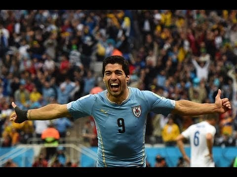 Luis Suarez Goal Uruguay Vs England 2 - 1 World Cup 2014 19/06/2014