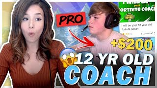 I Hired a 12 YEAR OLD Fortnite Pro from Fiverr to Carry Me! Pokimane