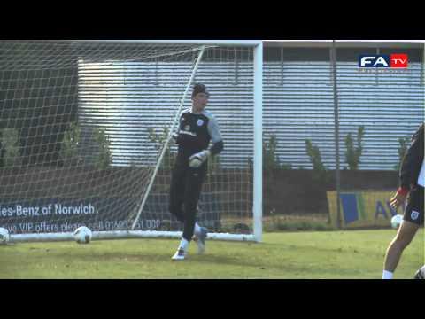 U21 Serbia v U21 England - Jack Butland Great Save in Training | England