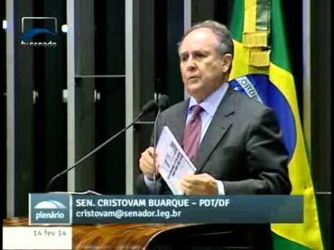 Sen. Cristovam Buarque (PDT-DF) comenta relatório do Banco Central dos EUA que se refere ao Brasil