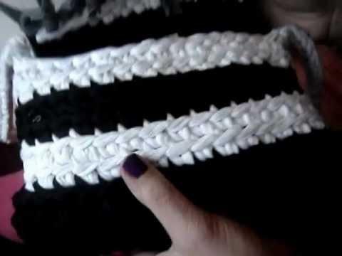 Trapillo punto bajo no entero medio punto youtube - Puntos crochet trapillo ...