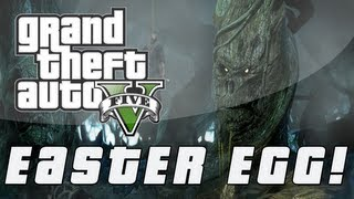 Grand Theft Auto 5 Tree With A Face Easter Egg (GTA V