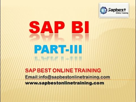 SAP BI ONLINE TRAINING | SAP BI TRAINING LIVE DEMO VIDEO | SAP BI PROJECT SUPPORT | BI CLASS
