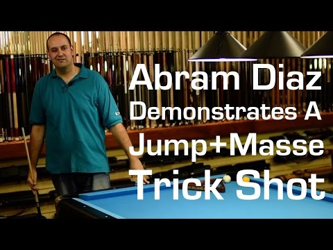 Abram Diaz Demonstrates A Jump + Masse Shot