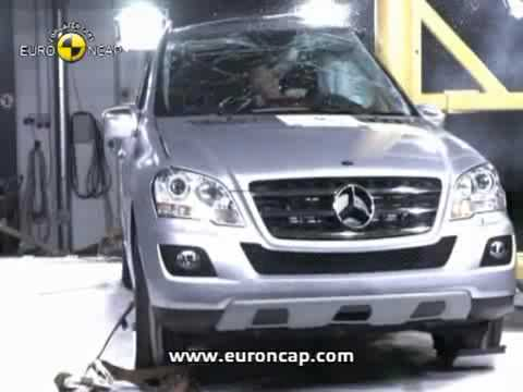 Crash Test 2008 - 20** Mercedes Benz  ML Class (Front , Side amd Pole Test) Euro NCAP