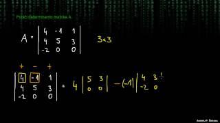 Iskanje determinante za matriko 3×3 – metoda 2