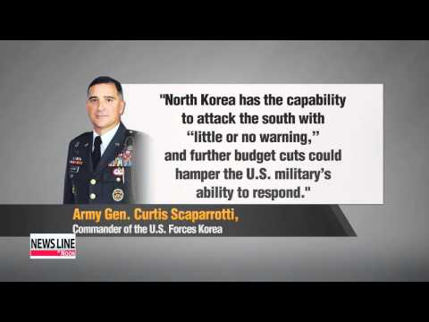 USFK chief warns of surprise North Korean attack, fallout from Pentagon budget cuts