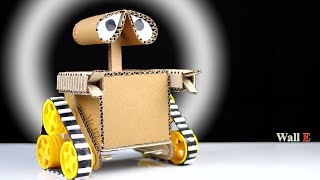 How to Make a robot at home from Cardboard - DIY Wall E Robot - Mr H2