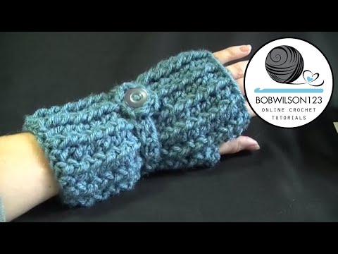 Crochet Fingerless Gloves Tutorials : Cozy Fingerless Gloves Crochet Tutorial - YouTube