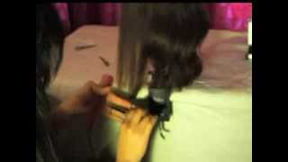 How To: CUT Split Ends One Length One Layer Women HAIRCUT