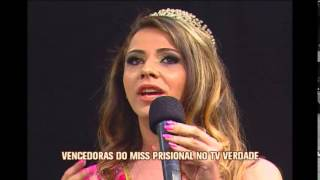 Vencedora do Miss Prisional 2014 participa do TV Verdade