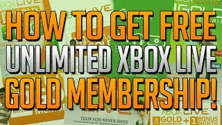 How To Get Unlimited XBOX LIVE GOLD For FREE! Free