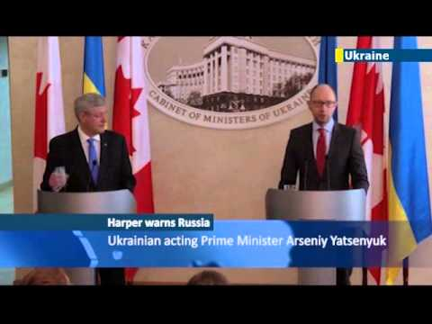 Canadian PM Steven Harper: Russian invasion of Crimea could spark nuclear arms race