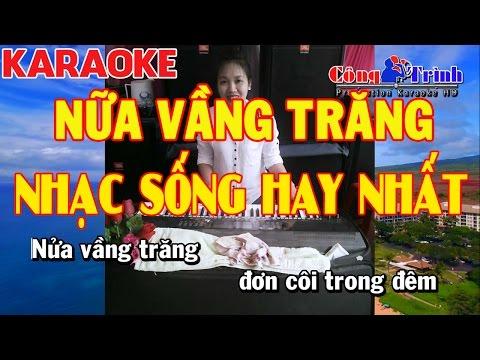 Karaoke | Nữa Vầng Trăng Remix Disco | Full Beat | Nhạc Sống Công Trình | KeyBoard Trường Giang