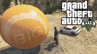 GTA 5 - Giant Ball Rolling Down Mountain | Easter Egg