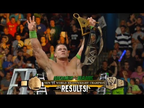 John Cena wins the WWE World Heavyweight Championship! Money In The Bank 2014 Result!