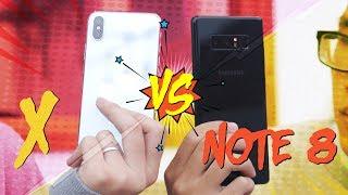 So sánh chi tiết iPhone X vs Galaxy Note 8