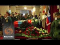 Donetsk residents give killed rebel commander a heros farewell