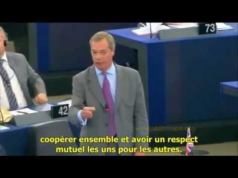 """Nigel Farage: """"quand Mme Merkel parle, les autres chefs d'Etats obéissent."""""""
