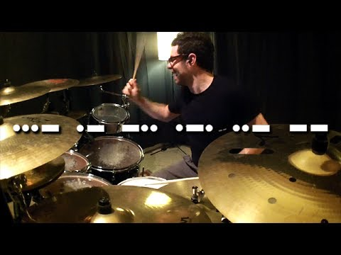 Vadrum Speaks Morse Code (Drum Video)