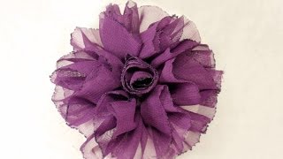 How To Make Shaby Chic Fabric Flower, Tutorial Fabric