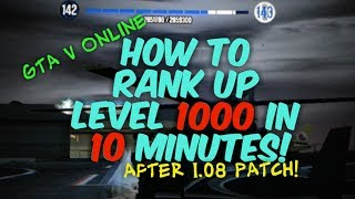GTA 5 Online How To Get RANK 1000 In 10 Min. +MONEY MODS