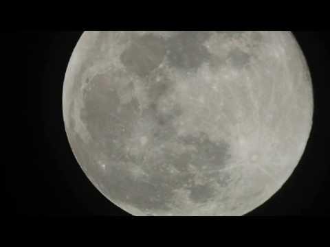 Live Backyard Astronomy - The Moon 10 inch Dobsonian telescope
