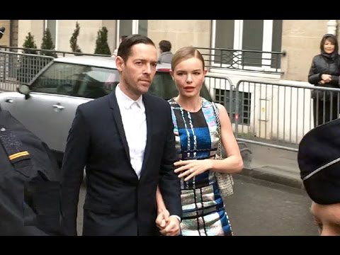Kate BOSWORTH et Michael POLISH à la Paris Fashion Week 2014 défilé DIOR show 20 janvier 2014