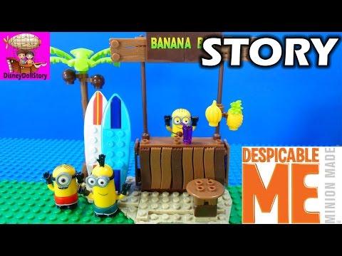 Minions Banana Bar Mayhem - Despicable Me Minions Mini Movies - Stop Motion Video