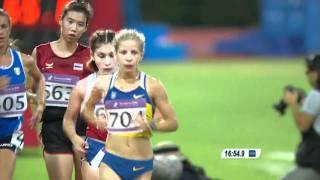 Women's 5000m Walk Final - Athletics - Singapore 2010 Youth Games