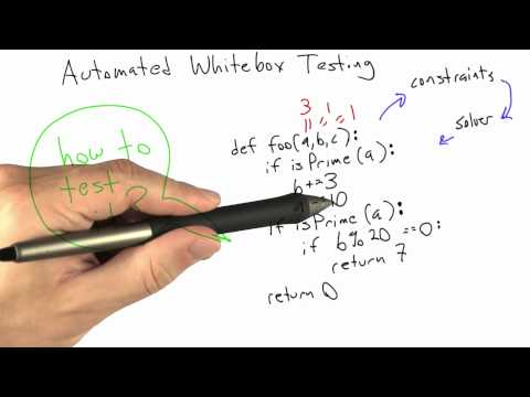 Automated Whitebox Testing - Software Testing - Coverage Testing - Udacity