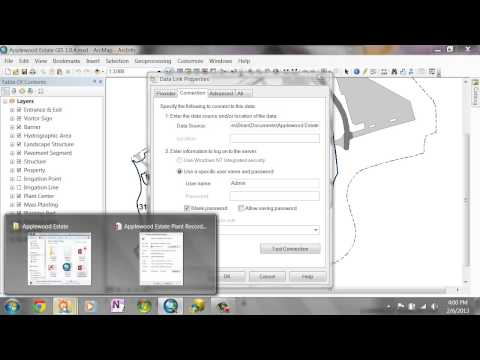 Linking the ArcGIS Public Garden Data Model with Microsoft Access