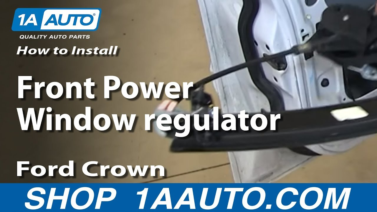 How to install replace front power window regulator 2003 for 03 lincoln ls window regulator