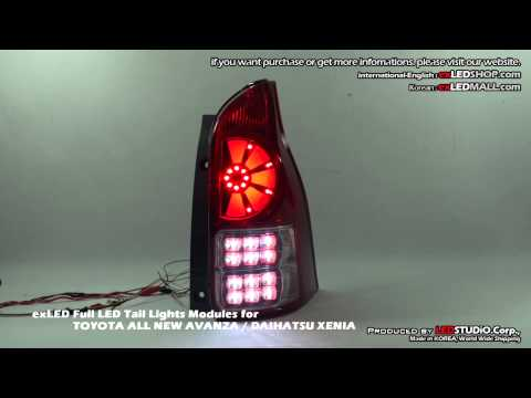 exLED Full LED Tail Lights Modules for TOYOTA ALL NEW AVANZA / DAIHATSU XENIA