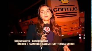 Motorista de caminh�o morre ao bater em �nibus no Centro-Oeste de Minas