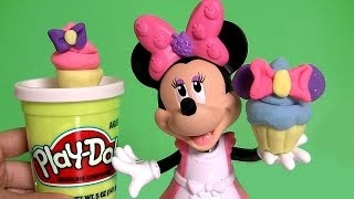 Play Doh Minnie Mouse Cupcake Bow-Tique With Princess Anna