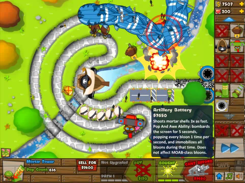 Bloons tower defense 5 daily challenge btd btd5 may 1st 2012