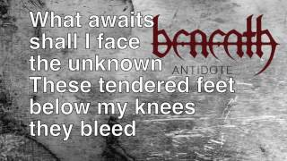 BENEATH - Vengeance I Breathe (Lyric Video)
