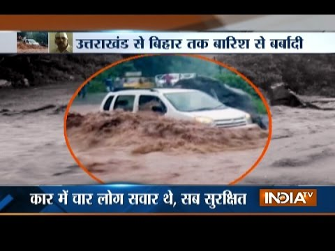 Watch Heavy rain increasing floods in Uttarakhand and Bihar